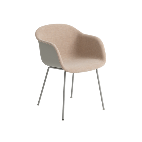 MUUTO | Fiber Armchair - Tube Base - Textile Seat (Multiple Colours Available)