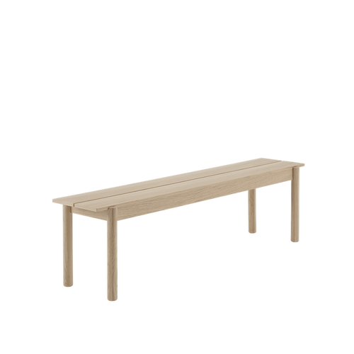 MUUTO | Linear Wood Bench, Oak (Multiple Sizes Available)