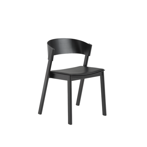 MUUTO | Cover Side Chair - Leather Seat (Multiple Colours Available)