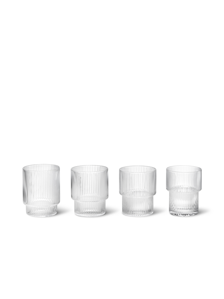 FERM LIVING | Ripple Glasses Tumblers (Set Of 4) - Clear