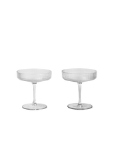 Load image into Gallery viewer, FERM LIVING | Ripple Champagne Saucers (Set Of 2) - Clear
