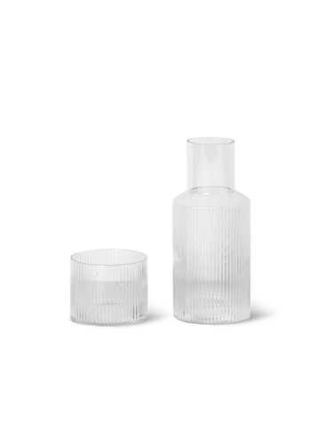 FERM LIVING | Ripple Glass & Carafe Set - Small - Clear