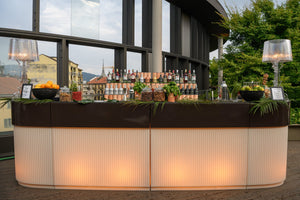 SLIDE DESIGNS |  Cordiale Corner Illuminated (Multiple Finishes Available)
