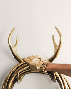 GARDEN GLORY | Reindeer Gold Hose Holder