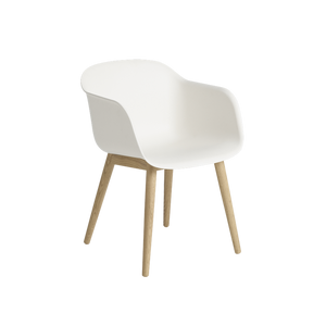 MUUTO | Fiber Armchair - Wood Base - Fiber Seat (Multiple Colours Available)