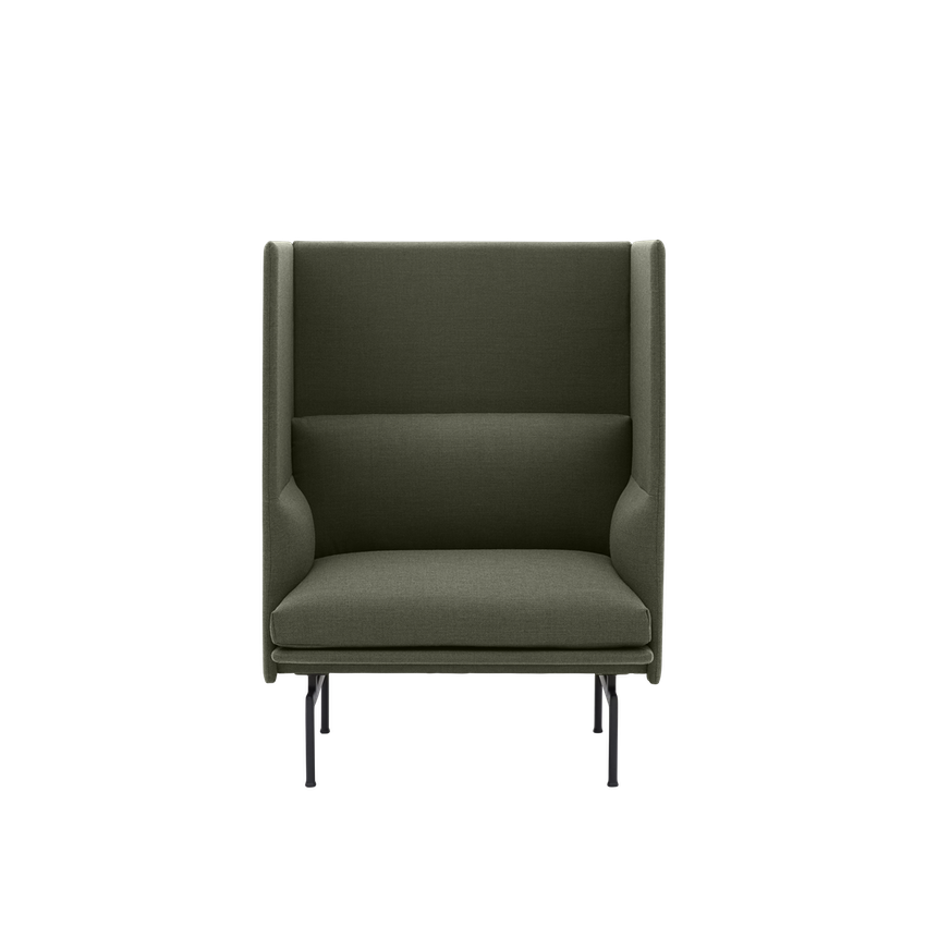 MUUTO | Outline Highback Sofa - 1 Seater H45cm (Multiple Colours Available)