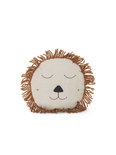Load image into Gallery viewer, FERM LIVING | Hand Embroidered Lion Safari Cushion