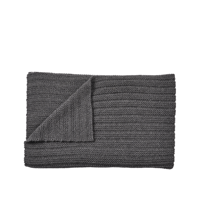 MUUTO | Ample Throw (Baby Llama Wool) - Dark Grey