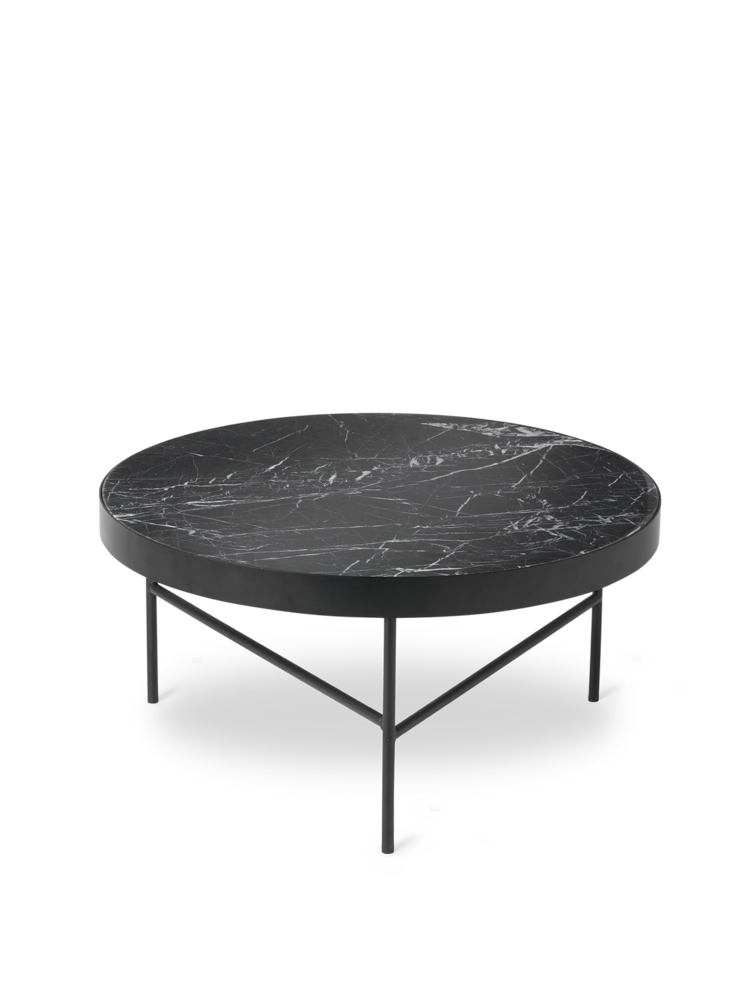 FERM LIVING | Marble Coffee Table - Black Marble