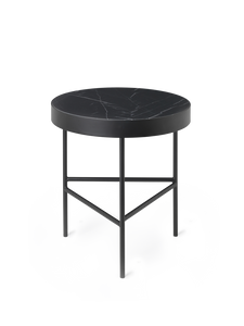 FERM LIVING | Marble Side Table - Black Marquina Marble