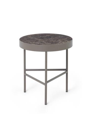 FERM LIVING | Marble Side Table - Brown Emperor Marble