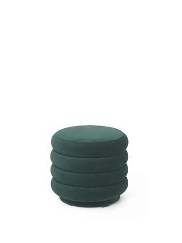 FERM LIVING | Pouf Round - Dark Green (Multiple Sizes)