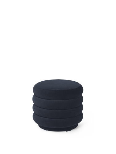 FERM LIVING | Pouf Round - Dark Blue - Small