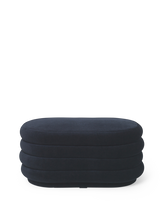 Load image into Gallery viewer, FERM LIVING | Pouf Oval - Dark Blue - Medium