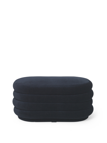 FERM LIVING | Pouf Oval - Dark Blue - Medium