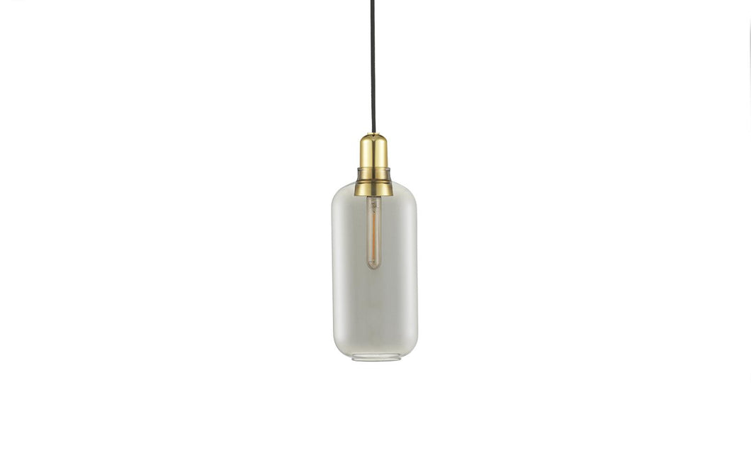 NORMANN COPENHAGEN | Amp Pendant Lamp - Smoke/Brass (Multiple Sizes)
