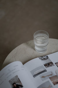 FERM LIVING | Ripple Glasses Tumblers Set Of 4 - Clear (New Without Box)