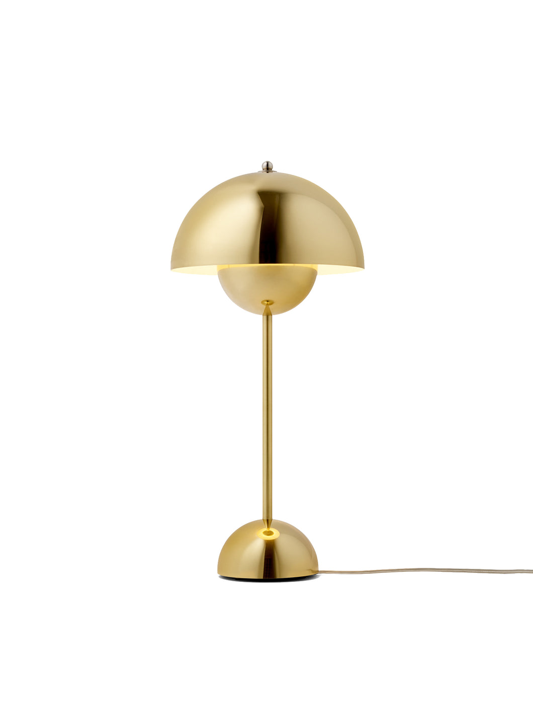 &TRADITION | Flowerpot VP3 by Verner Panton 1969 - Polished Brass (New Without Box - EU Light)