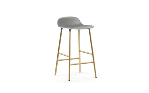 NORMANN COPENHAGEN | Form Bar Stool,Steel Legs 65cm (Multiple Colours Available)