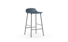 Load image into Gallery viewer, NORMANN COPENHAGEN | Form Bar Stool,Steel Legs 65cm (Multiple Colours Available)