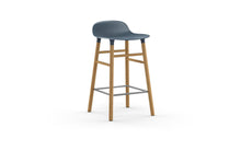 Load image into Gallery viewer, NORMANN COPENHAGEN | Form Bar Stool - Wood Legs 65cm (Multiple Colours Available)