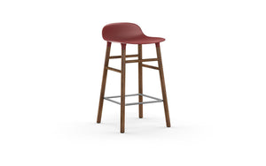 NORMANN COPENHAGEN | Form Bar Stool - Wood Legs 65cm (Multiple Colours Available)