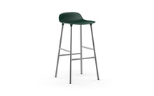 Load image into Gallery viewer, NORMANN COPENHAGEN | Form Bar Stool,Steel Legs 75cm (Multiple Colours Available)