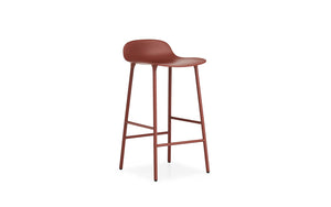 NORMANN COPENHAGEN | Form Bar Stool,Steel Legs 75cm (Multiple Colours Available)
