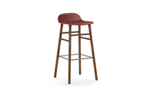 Load image into Gallery viewer, NORMANN COPENHAGEN | Form Bar Stool,Wood Legs 75cm (Multiple Colours Available)