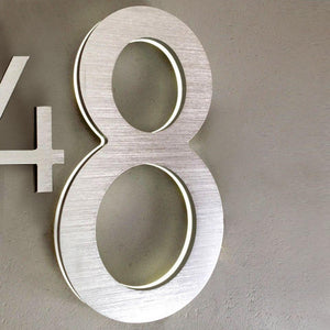 "LUMINOSO LIGHTING | Modern 10"" LED Illuminated Backlit House Numbers (Outdoor/Indoor)"