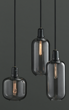 Load image into Gallery viewer, NORMANN COPENHAGEN | Amp Pendant Lamp - Smoke/Black (Multiple Sizes)