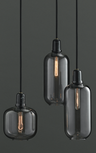 NORMANN COPENHAGEN | Amp Pendant Lamp - Smoke/Black (Multiple Sizes)