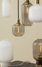 Load image into Gallery viewer, NORMANN COPENHAGEN | Amp Pendant Lamp - Smoke/Brass (Multiple Sizes)