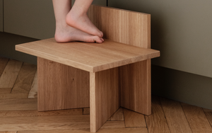 FERM LIVING | Oblique Stool Oak