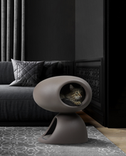 Load image into Gallery viewer, QEEBOO | Cat Cave Stefano Giovannoni (Bordeaux / Dove Grey)