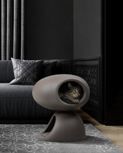 QEEBOO | Cat Cave Stefano Giovannoni (Bordeaux / Dove Grey)