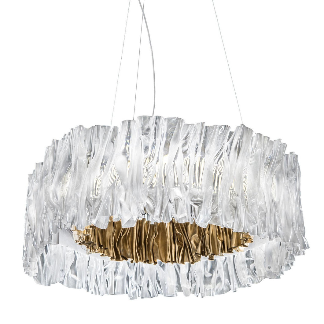SLAMP LIGHTING | Accordéon Suspension Light - (Gold & Silver Available)