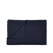 Load image into Gallery viewer, MUUTO | Ample Throw (Baby Llama Wool) - Midnight Blue