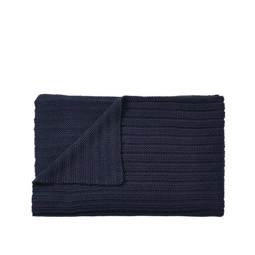 MUUTO | Ample Throw (Baby Llama Wool) - Midnight Blue