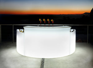 SLIDE DESIGNS |  Break Modular Bar Illuminated (Indoor / Outdoor)