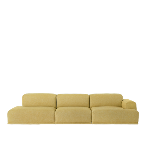 MUUTO | Connect Modular Sofa System - 3 Seater Open End Configuration - Left (Hallingdal 407)