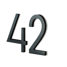 "Load image into Gallery viewer, LUMINOSO LIGHTING | Modern 5"" LED Illuminated Backlit House Numbers (Outdoor/Indoor)"