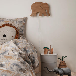 FERM LIVING | Hand Embroidered Lion Safari Cushion