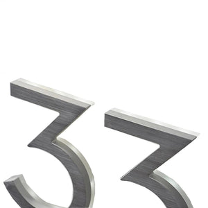 "LUMINOSO LIGHTING | Modern 5"" LED Illuminated Backlit House Numbers (Outdoor/Indoor)"