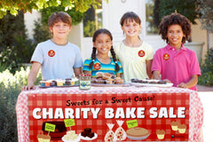 Kids Holding a Charity Bake Sale