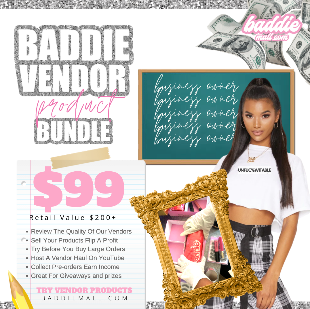 Baddie Vendor Review Bundle (Physical Package Of Products)