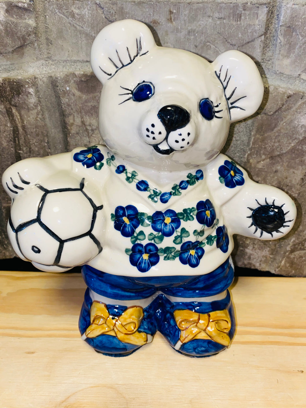 Soccer Bear Piggy Bank