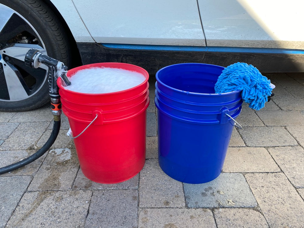 car wash buckets