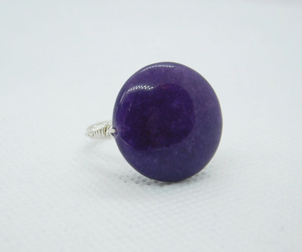 Big Purple Gemstone Handmade Ring by gabeadz