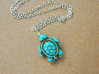 Turtle Turquoise Pendant. Turtle Necklace. Handmade Necklace. Jewelry Necklace, Turquoise Jewelry